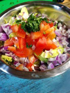 Guacamole Ingredients For 30-Minute Chicken Burrito Supreme