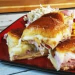 King's Hawaiian Ham Sliders are great for a crowd or a quick weeknight dinner recipe! From MealPlanHQ.com