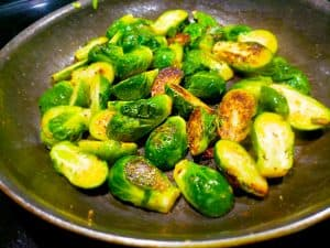 Crispy Sous Vide Chicken Thighs Sauteed Brussels Sprouts