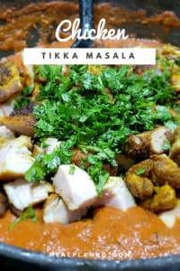 Chicken Tikka Masala Over White Rice Pin