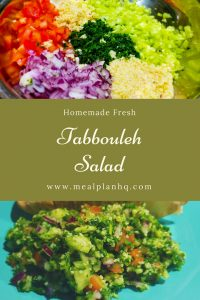 Homemade Tabbouleh Salad