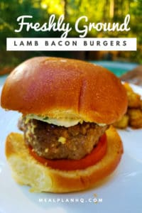 Lamb Bacon Burgers Pin