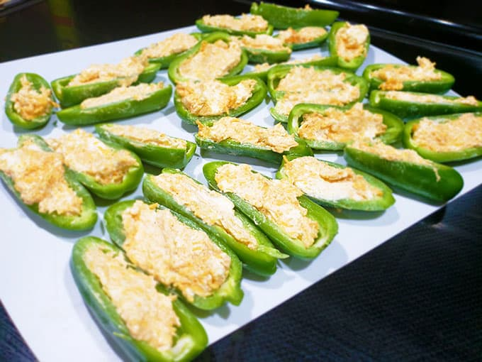 Jalapeno Poppers Stuffed with cream cheese and cheddar cheese