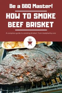 How to smoke a brisket pin