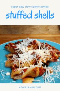 Slow Cooker Jumbo Stuffed Shells