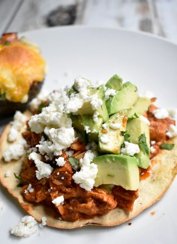 Healthy Chicken Tinga Tostadas Recipe