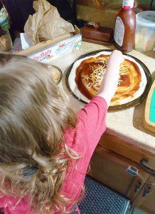 Make BBQ Chicken Pizza with your kids
