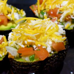 Pico De Gallo Stuffed Baked Avocado Recipe Stuffed Unbaked Square