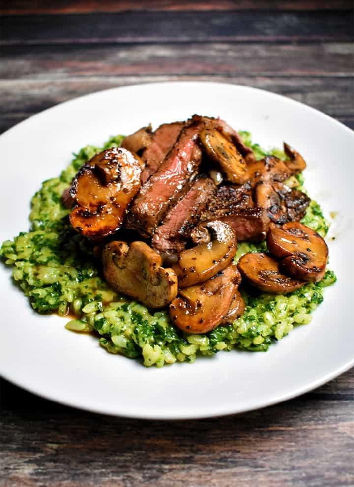 Sous Vide Steak Spinach Parmesan Risotto Recipe
