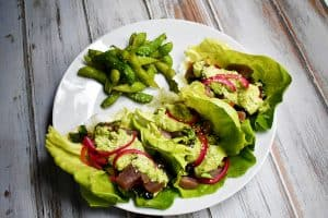 Tuna Poke Lettuce Wraps Recipe