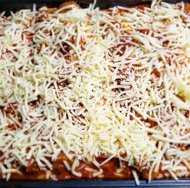 Easy Homemade Lasagna Recipe Topped