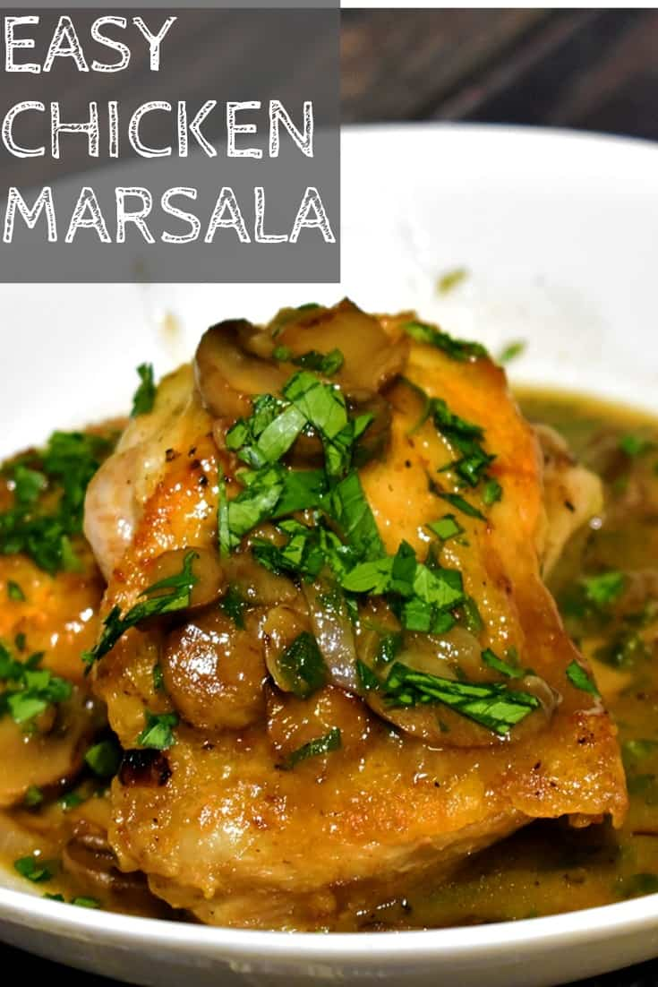 Easy Chicken Marsala Recipe from NerdChefs.com