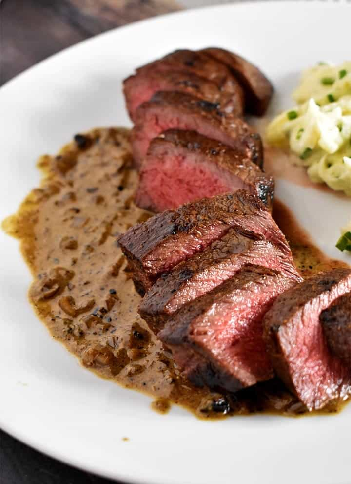 Sous Vide Steak Recipe over Whiskey Pan Sauce