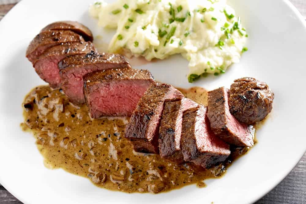 Sous Vide steak recipe over whiskey pan suace