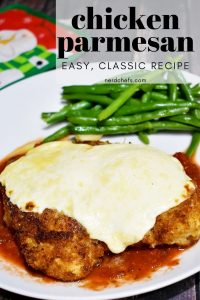 Chicken Parmesan with green beans