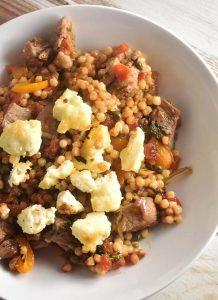 Greek Couscous with Lamb recipe