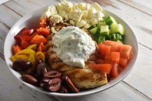 Keto Greek chicken bowls