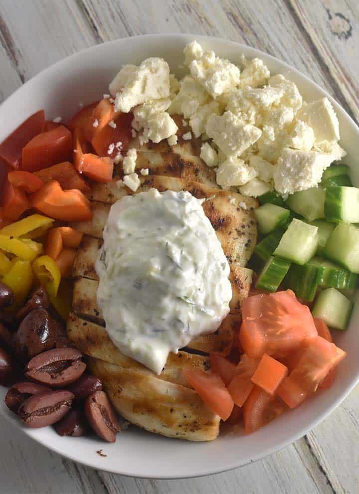 Greek Keto Chicken Bowl