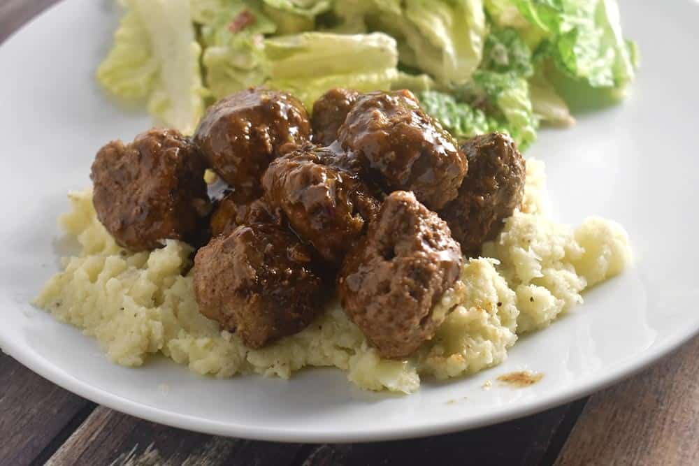 Meatballs over Mashed Cauliflower Recipe