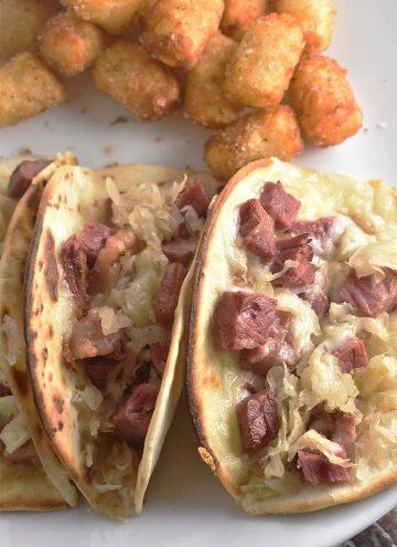 Corned Beef Reuben Tacos