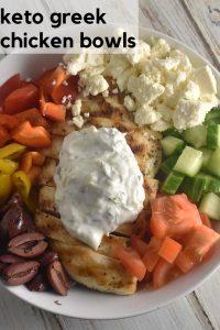 Keto Greek Chicken Bowls Recipe