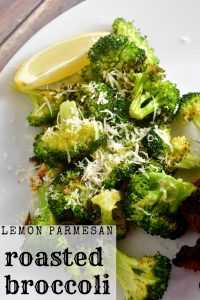 lemon parmesan roasted broccoli recipe pin