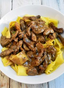 authentic beef stroganoff