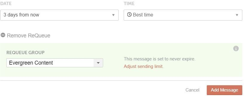 Coschedule social scheduling best time and requeue