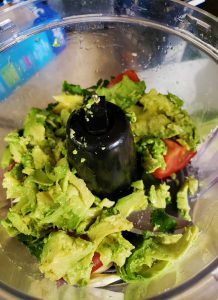 Homemade Guacamole in a Food Processor