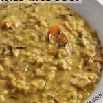 Instant Pot Chicken Wild Rice Soup Pin