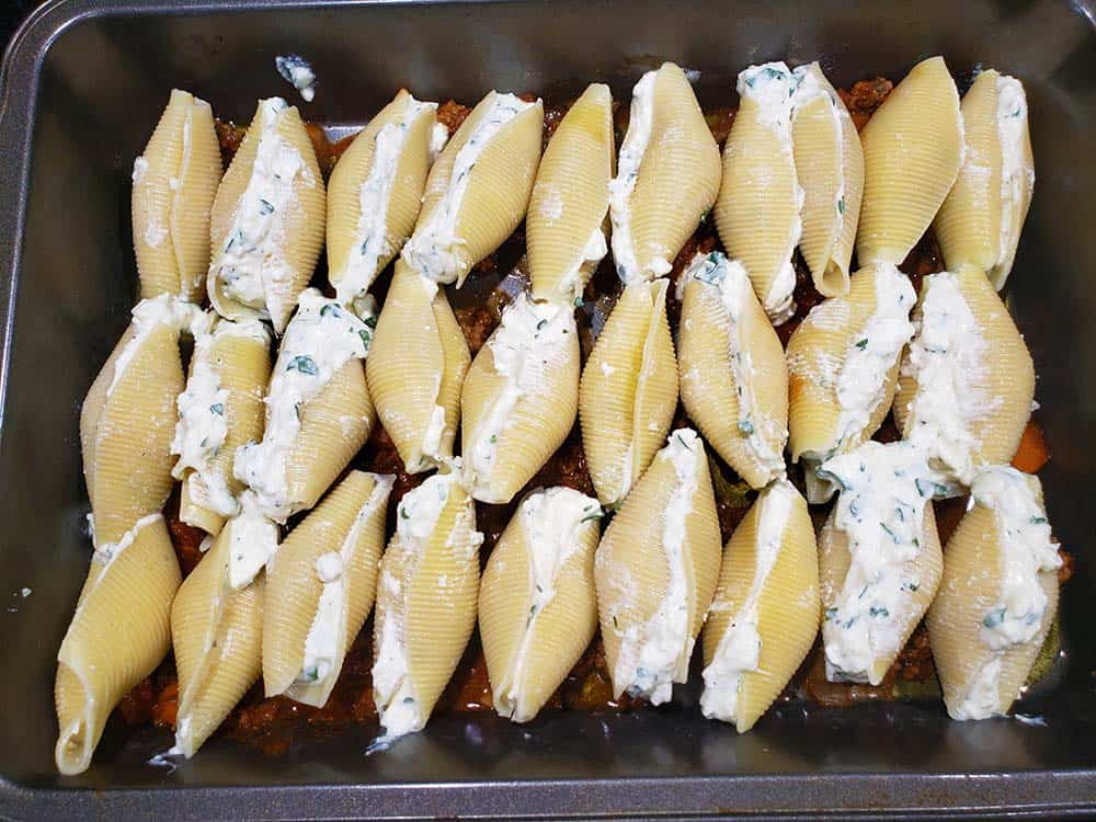 Jumbo Stuffed Shells in Pan