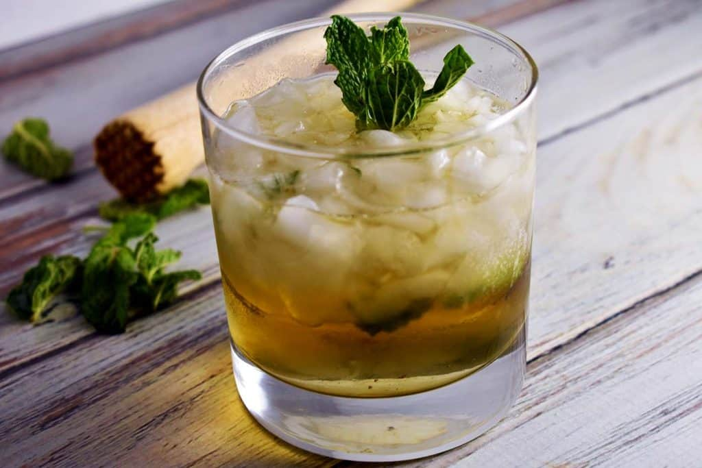 Mint Julep in a glass