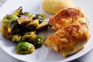 Lemon Garlic Chicken Thighs Dinner