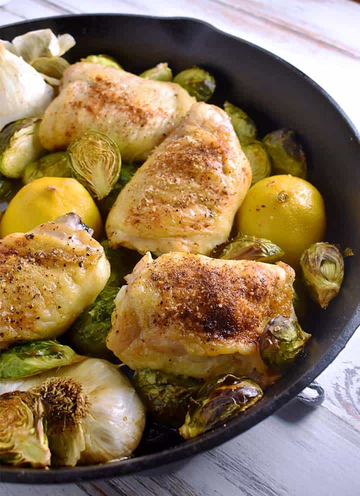 Lemon Garlic Chicken Thighs