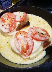 Kentucky Hot Brown in Cast Iron Pan