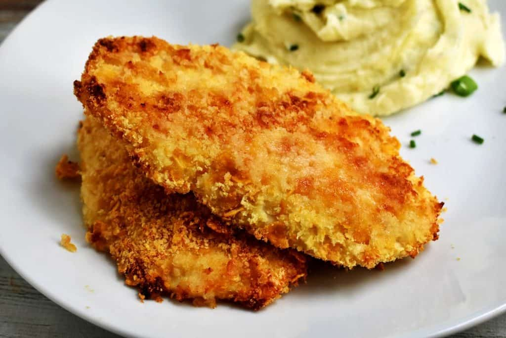 parmesan crusted chicken with mashed potatoes