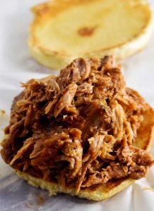 pulled pork on a bun