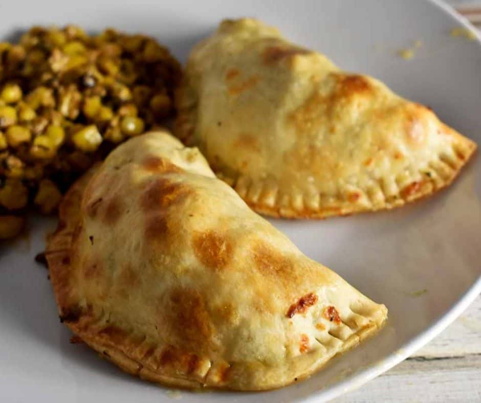 baked chicken and broccoli empanadas