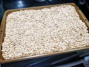 toasted oats for granola bars