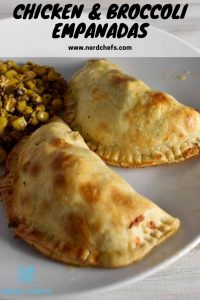 chicken and broccoli empanada for pinterest