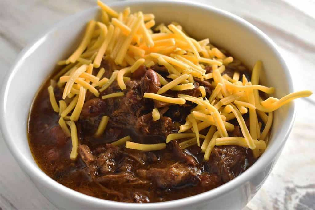 Instant pot chili with cheese