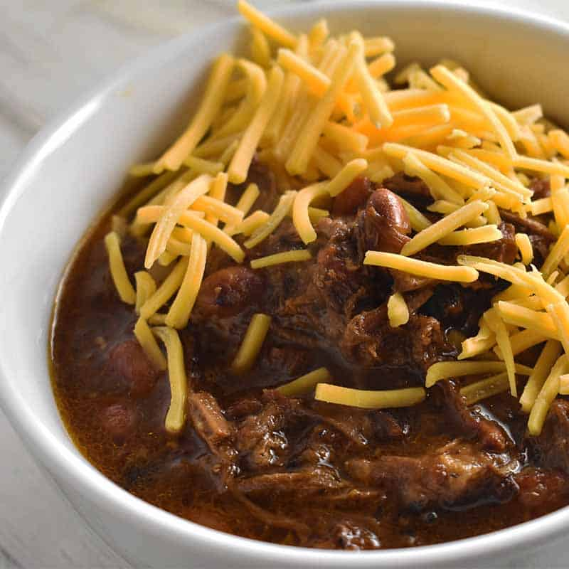 Instant Pot Chili Made With Smoked Brisket Nerd Chefs