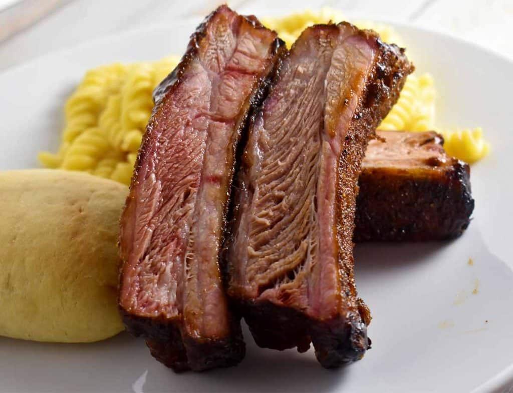 bbq pork on a plate