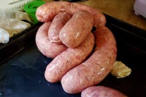 homemade bratwurst raw