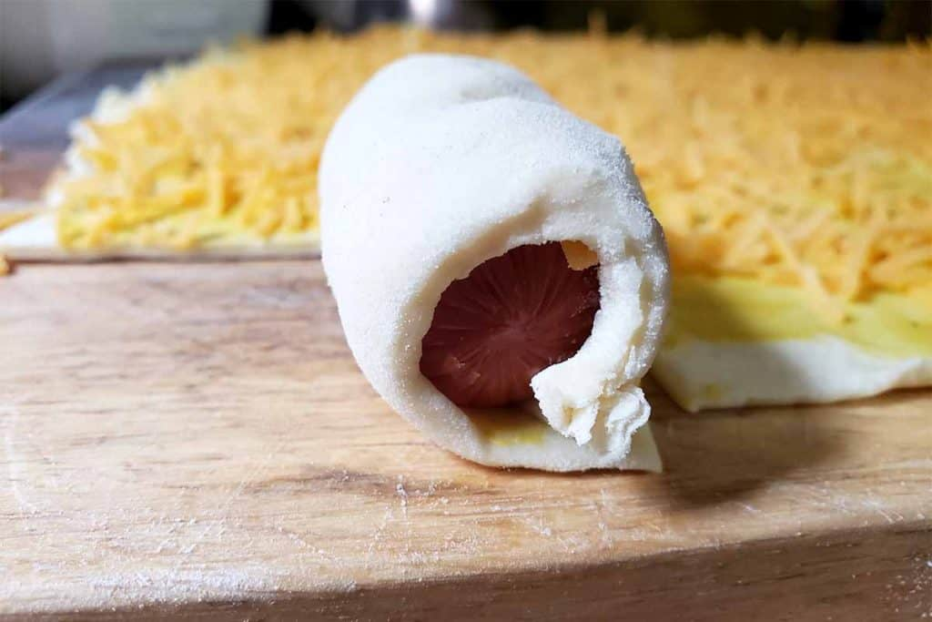 pig in a blanket uncooked