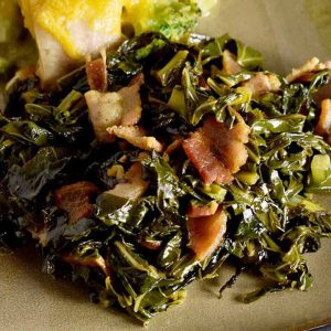 recipe photo collard greens with bacon