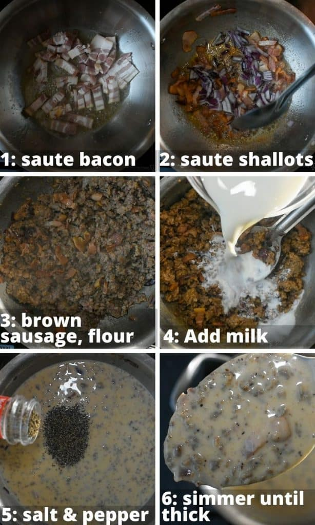sausage and biscuits step by step instructions