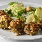 sausage stuffed mushrooms with feta