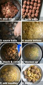 instant pot swedish meatball step by step instructions