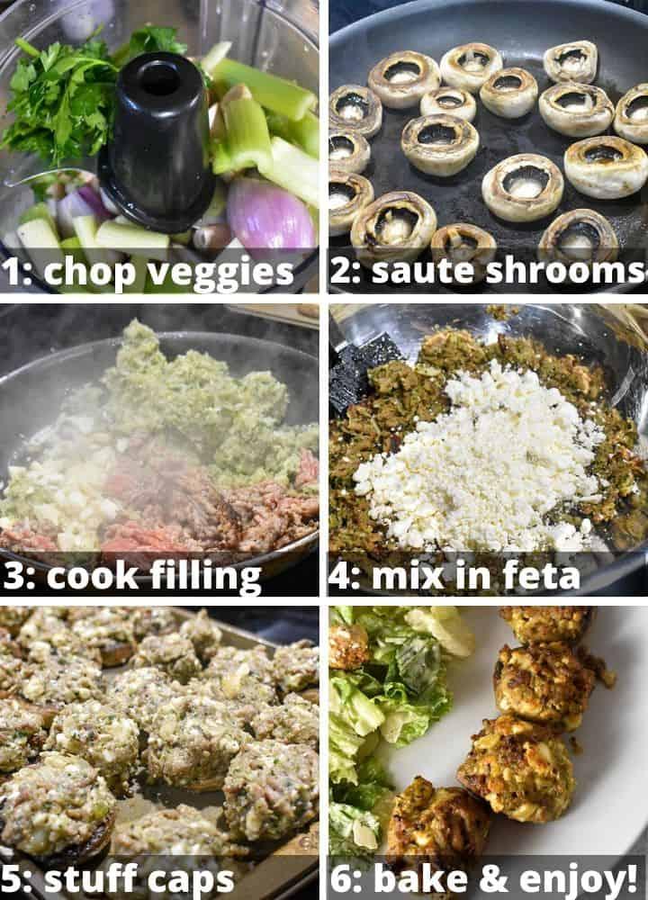 steps for making stuffed mushrooms